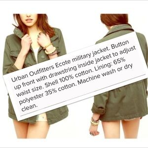 Urban Outfitters Jackets & Coats - EUC ecote Urban Outfitters Fatigue Military Jacket